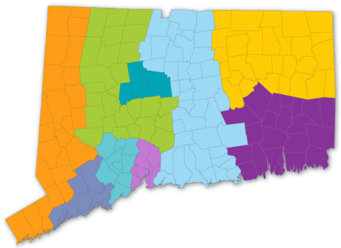 Towns Served by Connecticut Community Action Agencies