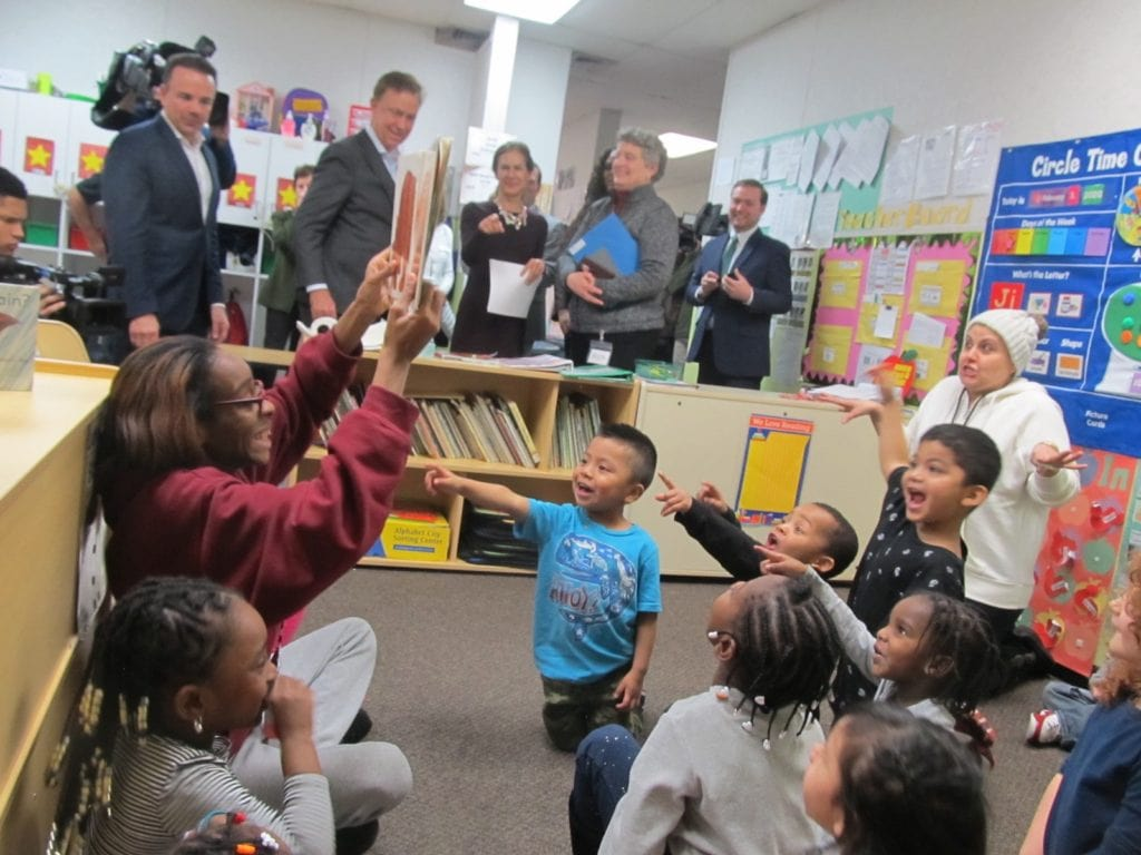 Governor Lamont visits ABCD daycare.